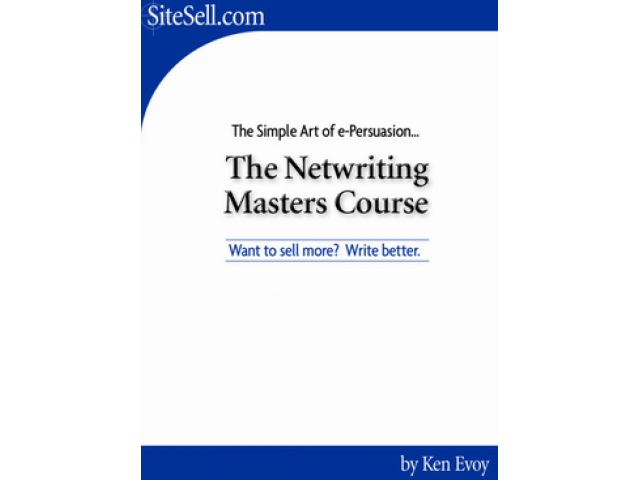 Free Book - The netwriting master's course