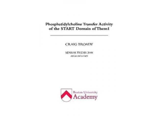 Free Book - Phosphatidylcholine Transfer Activity