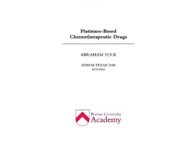 Free Book - Platinum-Based Chemotherapeutic Drugs