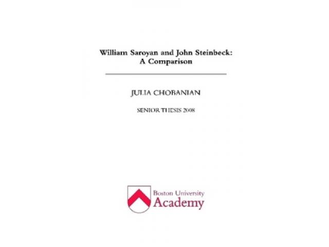 Free Book - William Saroyan and John Steinbeck: A Comparison