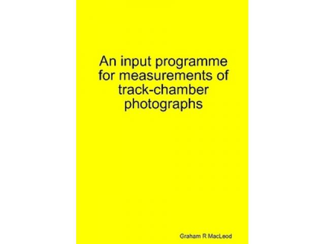 Free Book - An input programme for measurements of track-chamber photographs