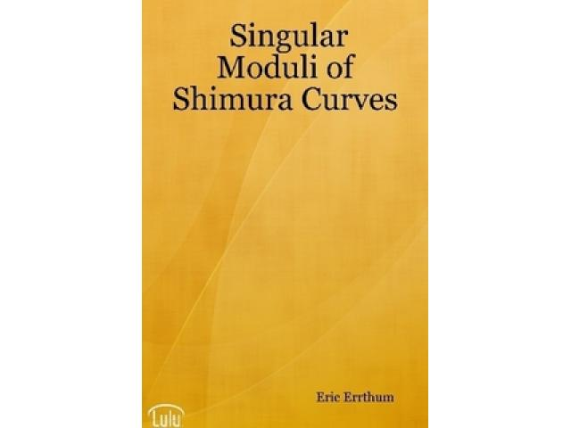 Free Book - Singular Moduli of Shimura Curves