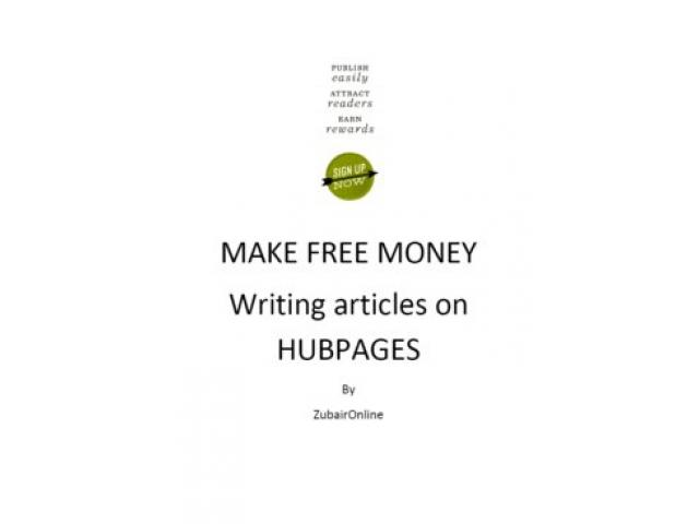 Free Book - Make Free Money Writing Articles on Hubpages