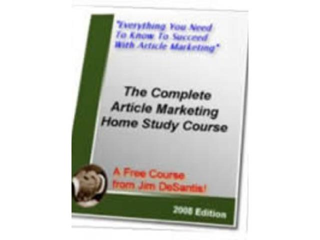 Free Book - The Complete Article Marketing
