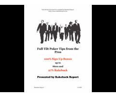 Full Tilt Poker - Tips from the Pros