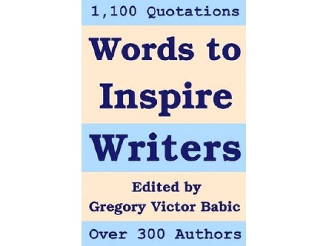 Free Book - Words to Inspire Writers