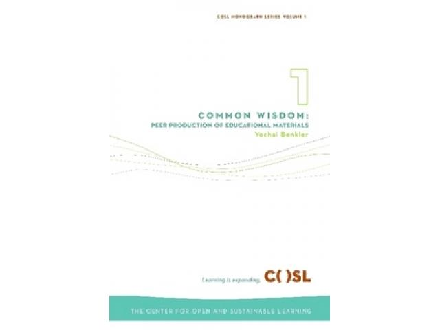 Free Book - Common Wisdom: Peer Production of Educational Materials