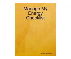 Manage My Energy Checklist